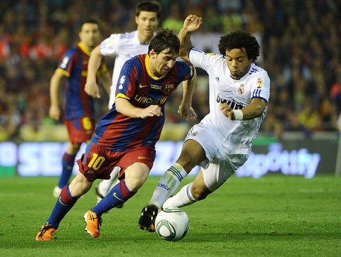Real Madrid Barcelona Lionel Messi Marcelo