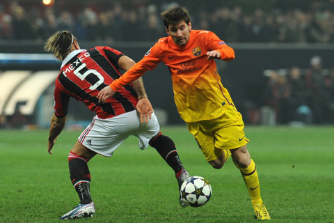 Milan Barcelona Lionel Messi Philippe Mexes