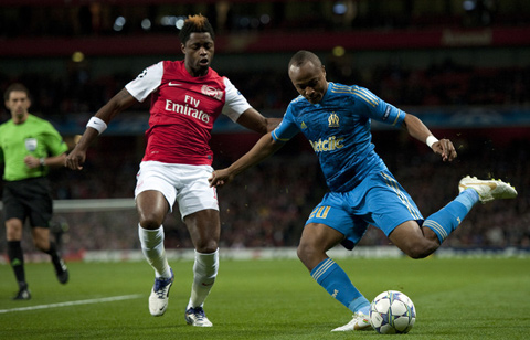Arsenal Marseille Alex Song Andre Ayew